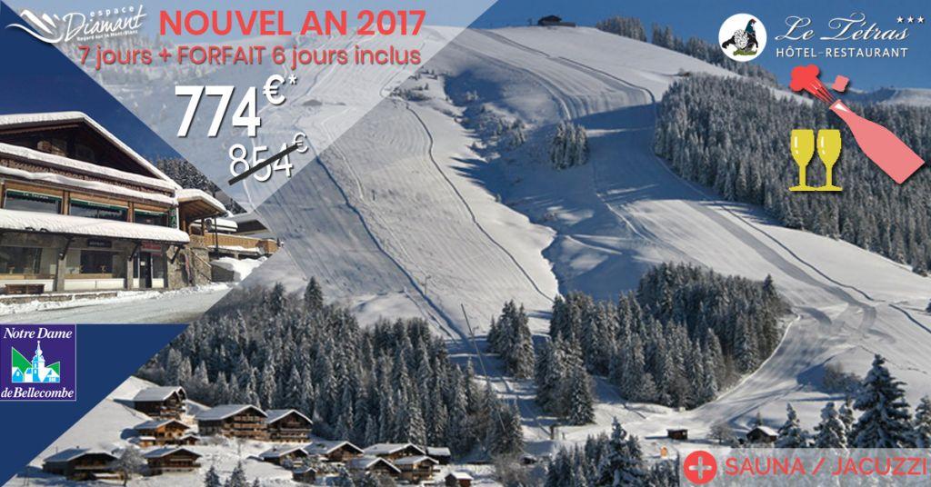 Bon Plan Ski Nouvel An, demi-pension en hôtel Savoie Val d'Arly / Beaufortain - Espace Diamant